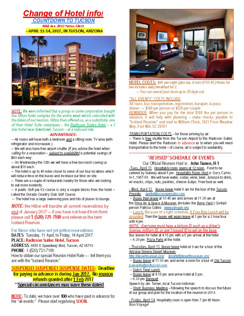 WEBSITE EMAIL NEWS RELEASE, Feb 2017 - CORRECTED New Hotel